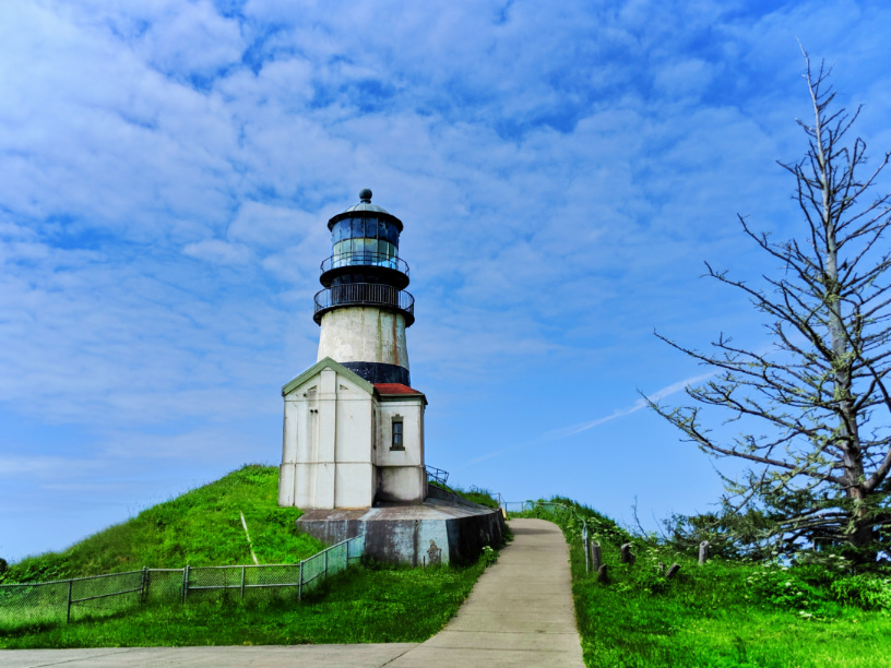 Lighthouse at Cape Disappointment State Park Ilwaco Washington 2